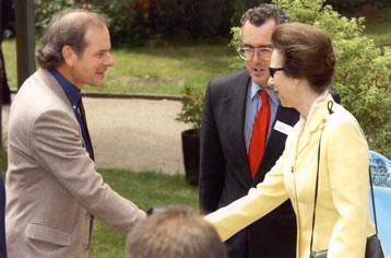 Monty Larkin meeting Princes Anne