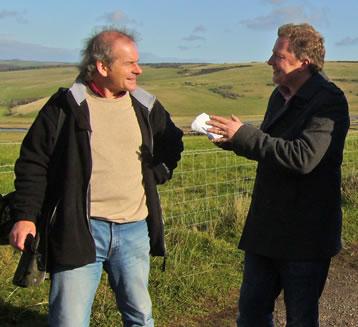 Monty Larkin being interviewed for BBC Radio 4